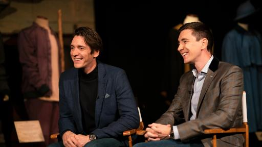 Film actors, James Phelps and Oliver Phelps at Harry Potter™: The Exhibition at the Pavilion of Portugal in Lisbon, Portugal