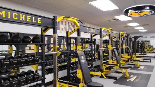 After shot of Chicago-area gym renovation funded by Optimum Nutrition and non-profit Lift Life