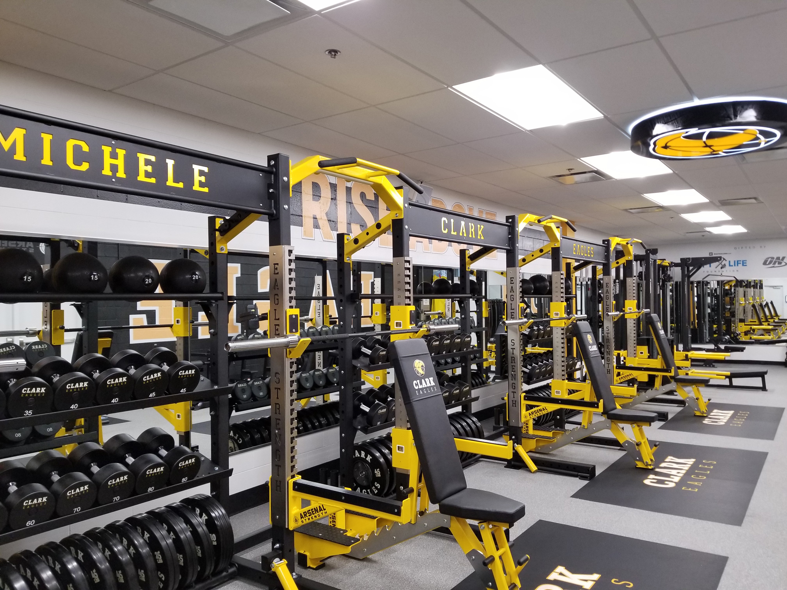 Lift Life and Optimum Nutrition reveal the newly renovated Michele Clark High School on Sept. 28