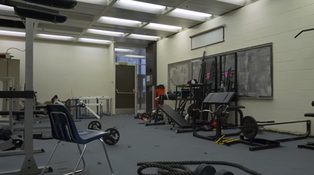 B-Roll package of the weight room before renovation and the video that Michele Clark students created to win the new weight room.