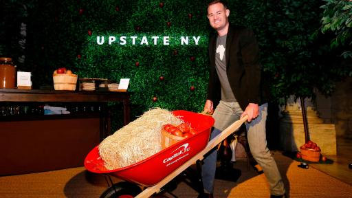 "Brian Kelly (""The Points Guy"") wheels his way through the Upstate New York pop-up experience at a launch event for the Purpose Project by Capital One®, Wednesday, October 24, 2018, in New York. (Jason DeCrow/AP Images for Capital One)"