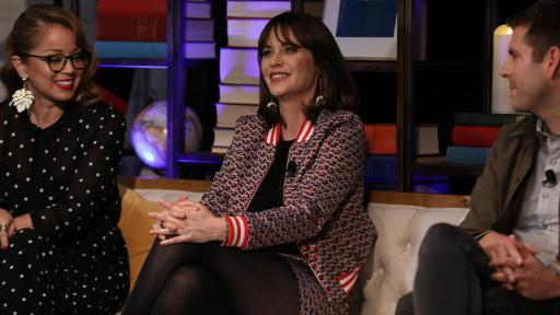 Zooey Deschanel shares her passion on stage.