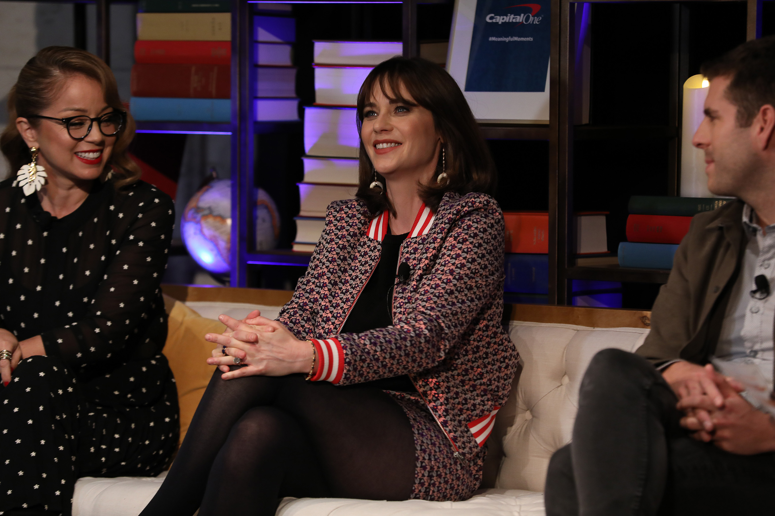 Zooey Deschanel shares her passion for travel at the launch event for the Purpose Project by Capital One on Wednesday, October 24, 2018 in New York. (Mark Von Holden/AP Images for Capital One)