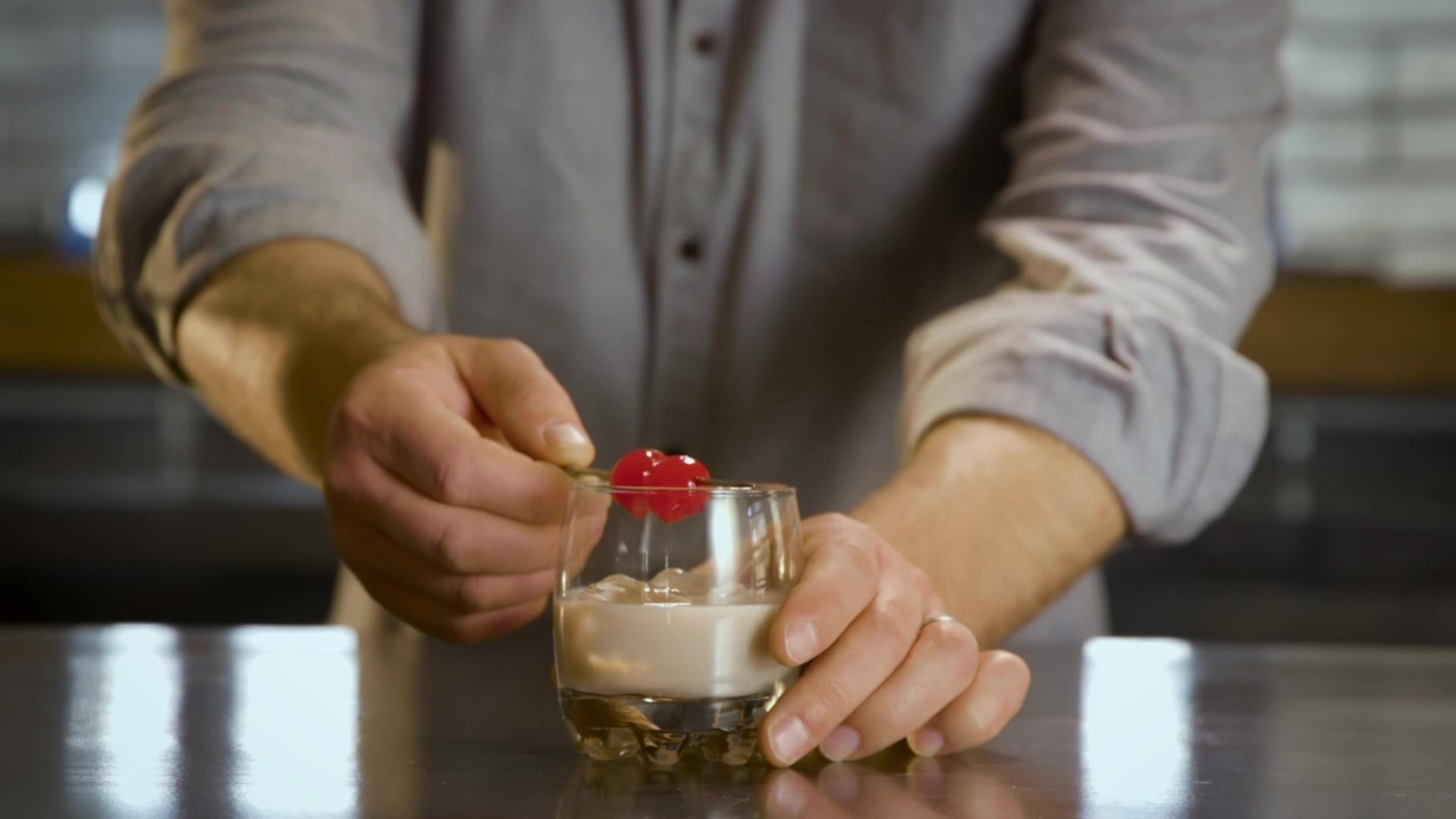 Five Farms & Amaretto (Cocktail Recipe)
