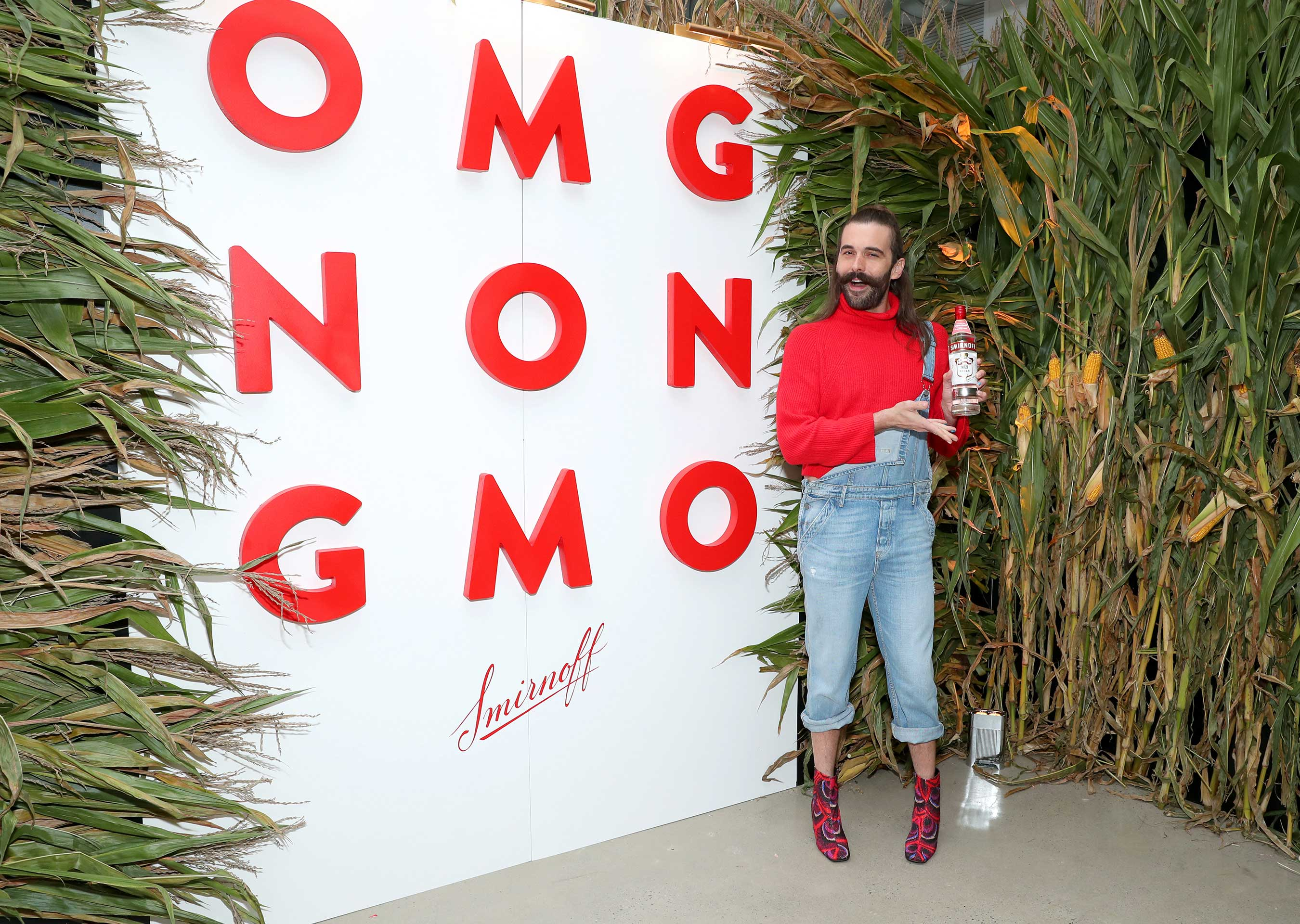 OMG! Jonathan Van Ness celebrates Smirnoff No. 21 Vodka, now made with non-GMO corn. (Photo by Cindy Ord/Getty Images for Smirnoff)