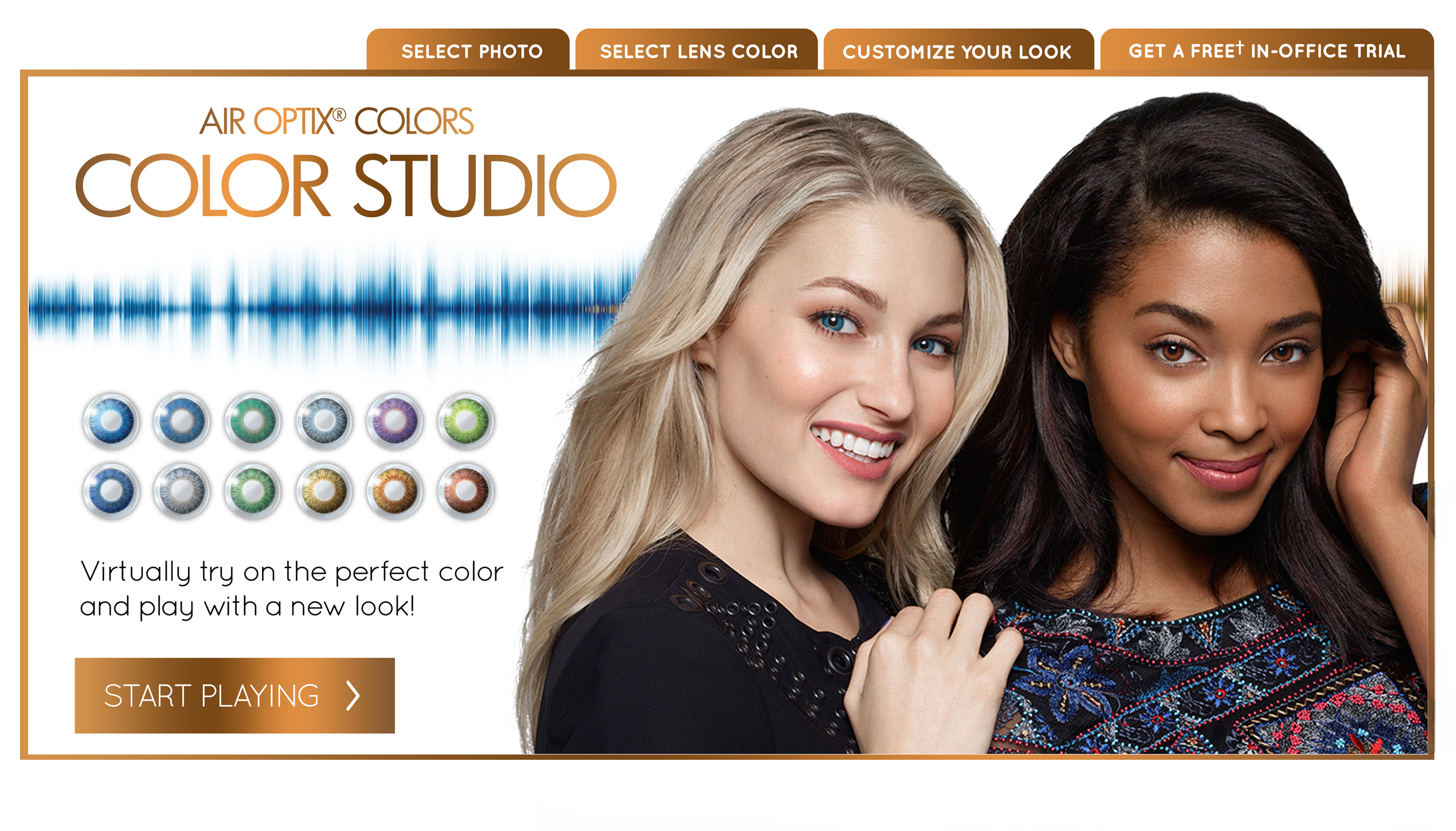 Contestants will be able to enter the AIR OPTIX® COLORS contact lenses sweepstakes by taking photos of themselves wearing the lenses or by virtually trying them on at the AIR OPTIX® COLORS Color Studio https://www.airoptix.com/colors/color-studio.shtml