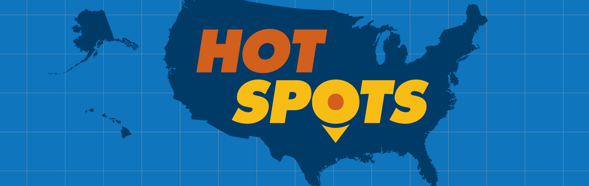 Hot Spots caption over a map of North America