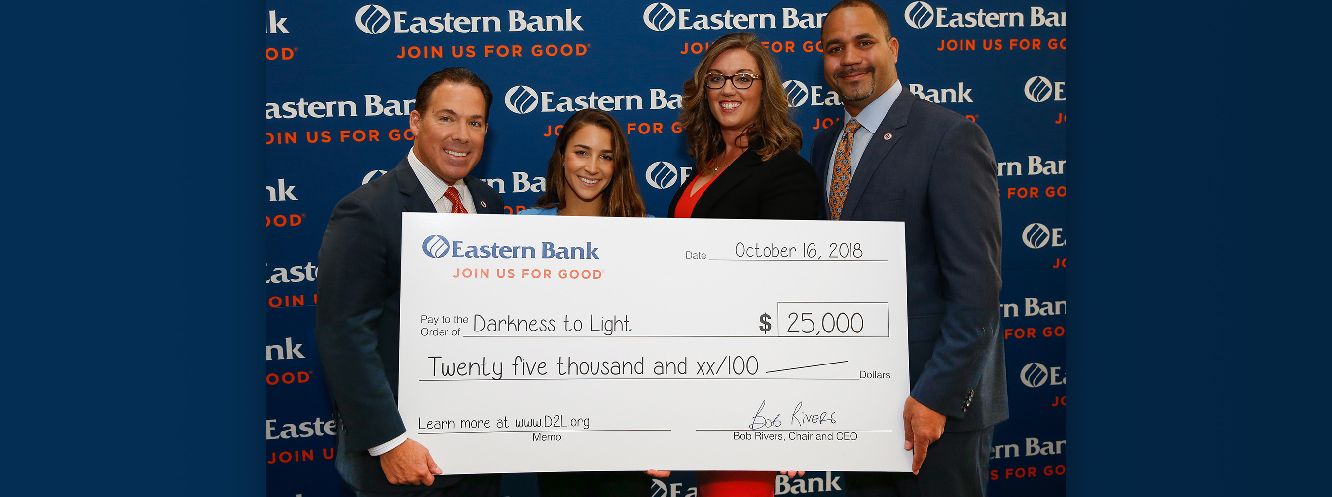 Aly Raisman and Eastern Bank Shine A Light...