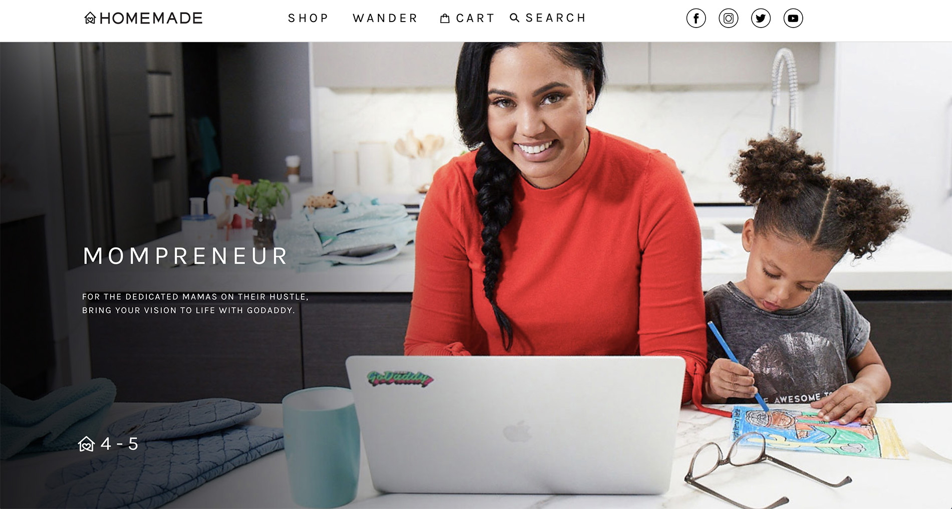 Ayesha Curry's new ShopHomeMade.com website, powered by GoDaddy