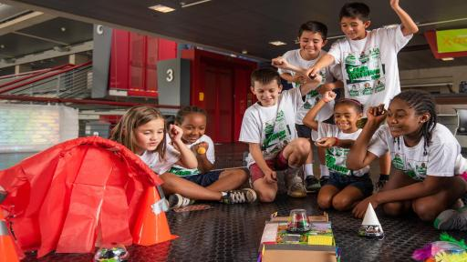 Campers will explore frequency, circuit boards, motors and gears as they use real tools to reverse engineer a remote-control robot.
