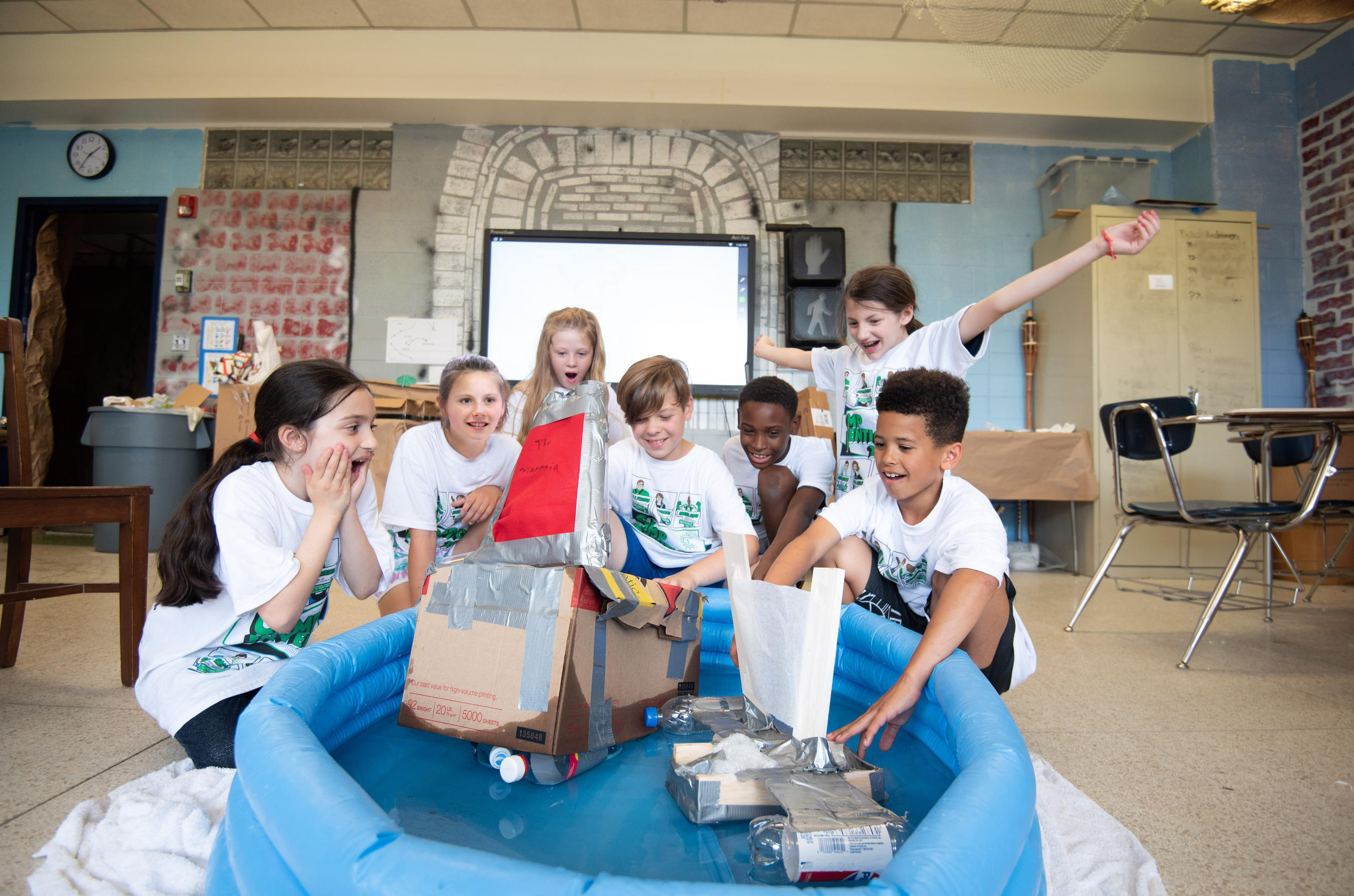 Campers will collaborate to rebuild ships, dig up fossils and design underwater equipment in fun, hands-on STEM activities.
