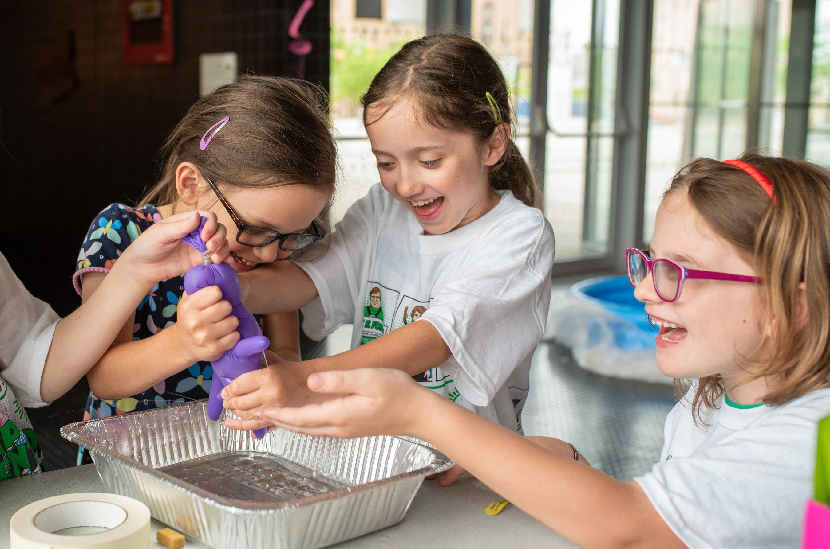 Campers are put in charge of managing their own farm as they learn the basics of running a business. They learn about fundamental coding techniques and DNA syntheses.