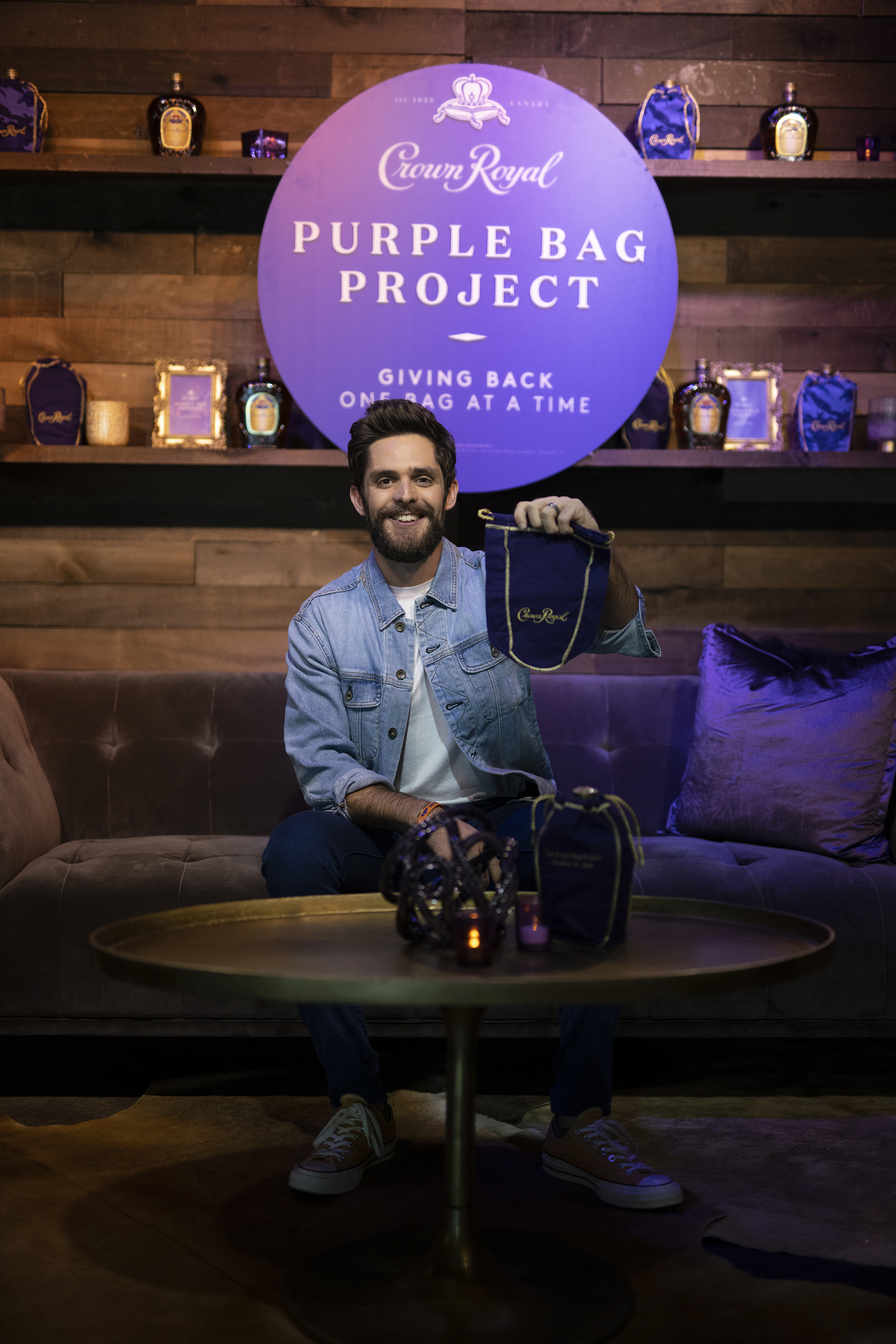 Crown Royal Joins Forces with Thomas Rhett to Launch The Purple Bag Project