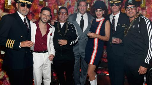 CATCH Las Vegas Co-Founders Eugene Remm and Mark Tillman Celebrate with George Clooney, Cindy Crawford and Rande Gerber at Halloween Grand Opening Party