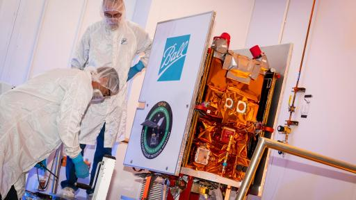 The Ball Aerospace-built small satellite for NASA's Green Propellant Infusion Mission is prepped for shipment to Florida for launch