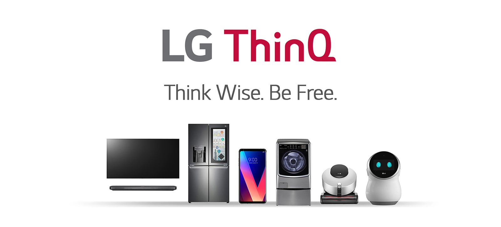 Banner image of LG ThinQ's product line