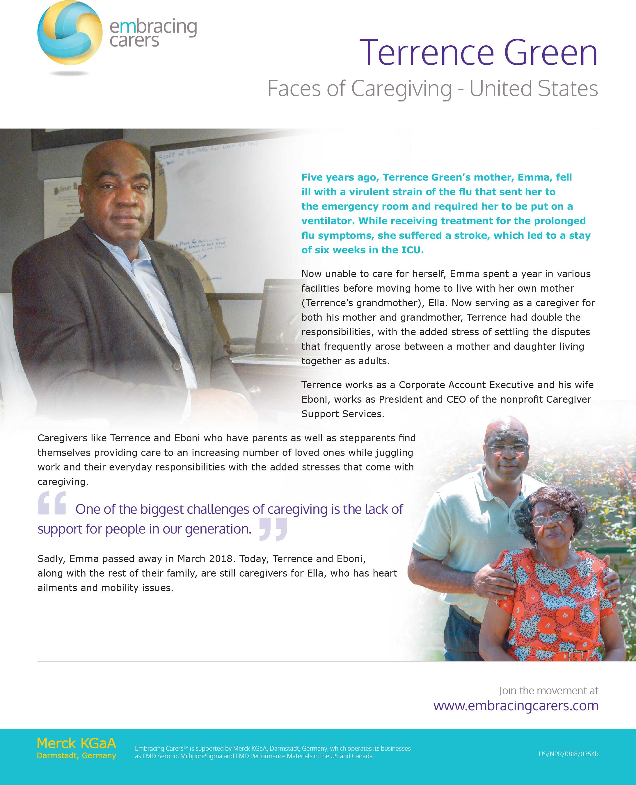 Caregiver Story – Terrence Green
