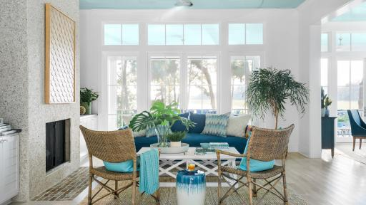 HGTV Dream Home 2020 great room with beautiful openness to the backyard