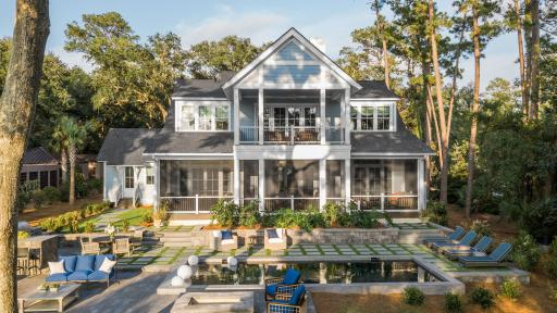 HGTV Dream Home 2020 backyard with marsh-front views and expansive entertaining space
