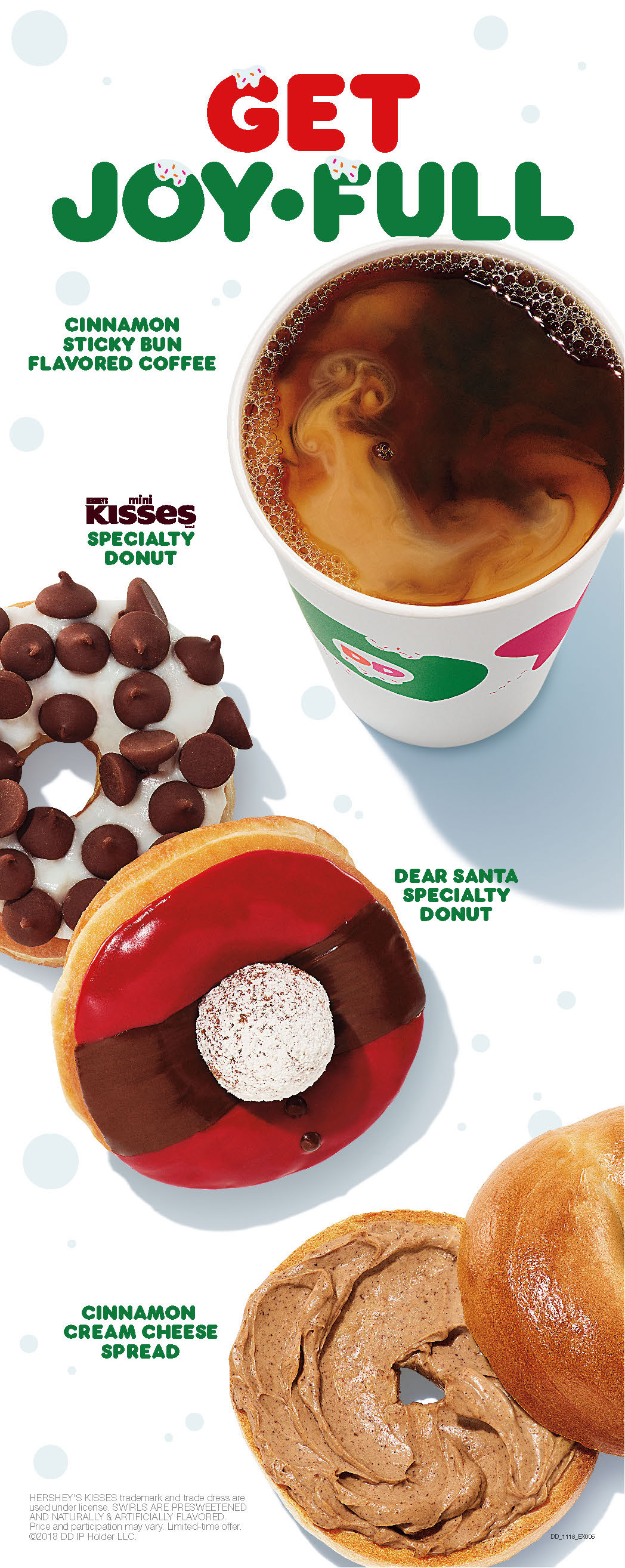 Dunkin's 2018 holiday lineup