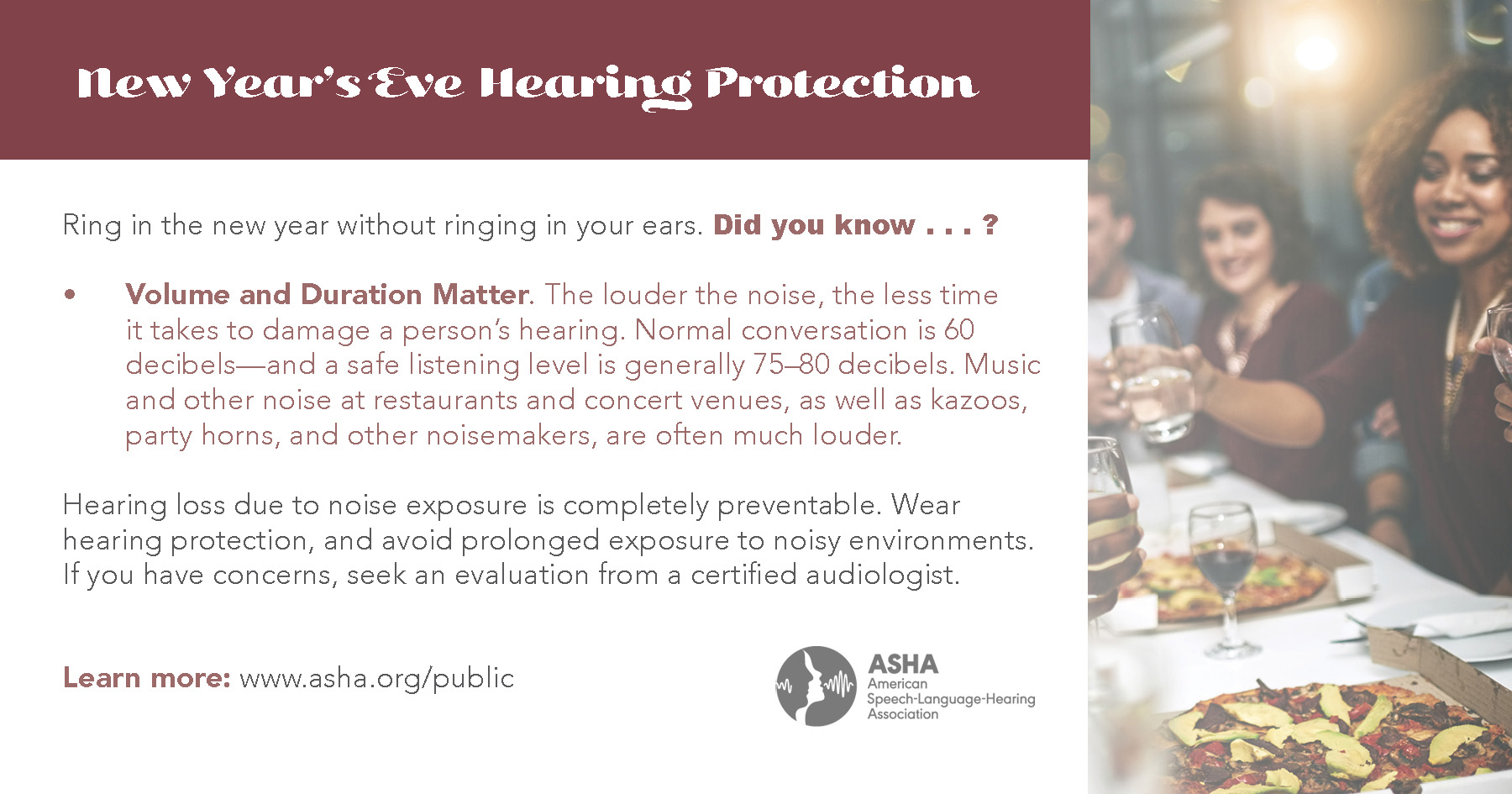Did You Know? Volume and Duration Matter