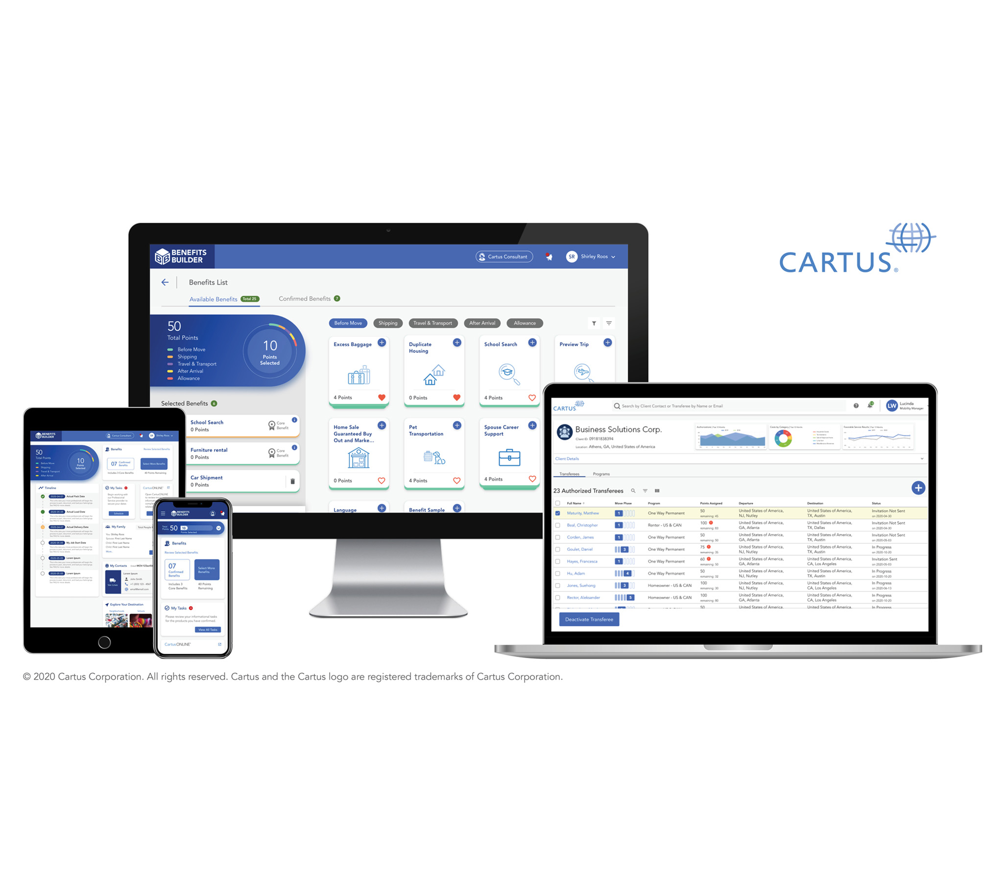 Benefits Builder is available on any device for customers and clients alike.