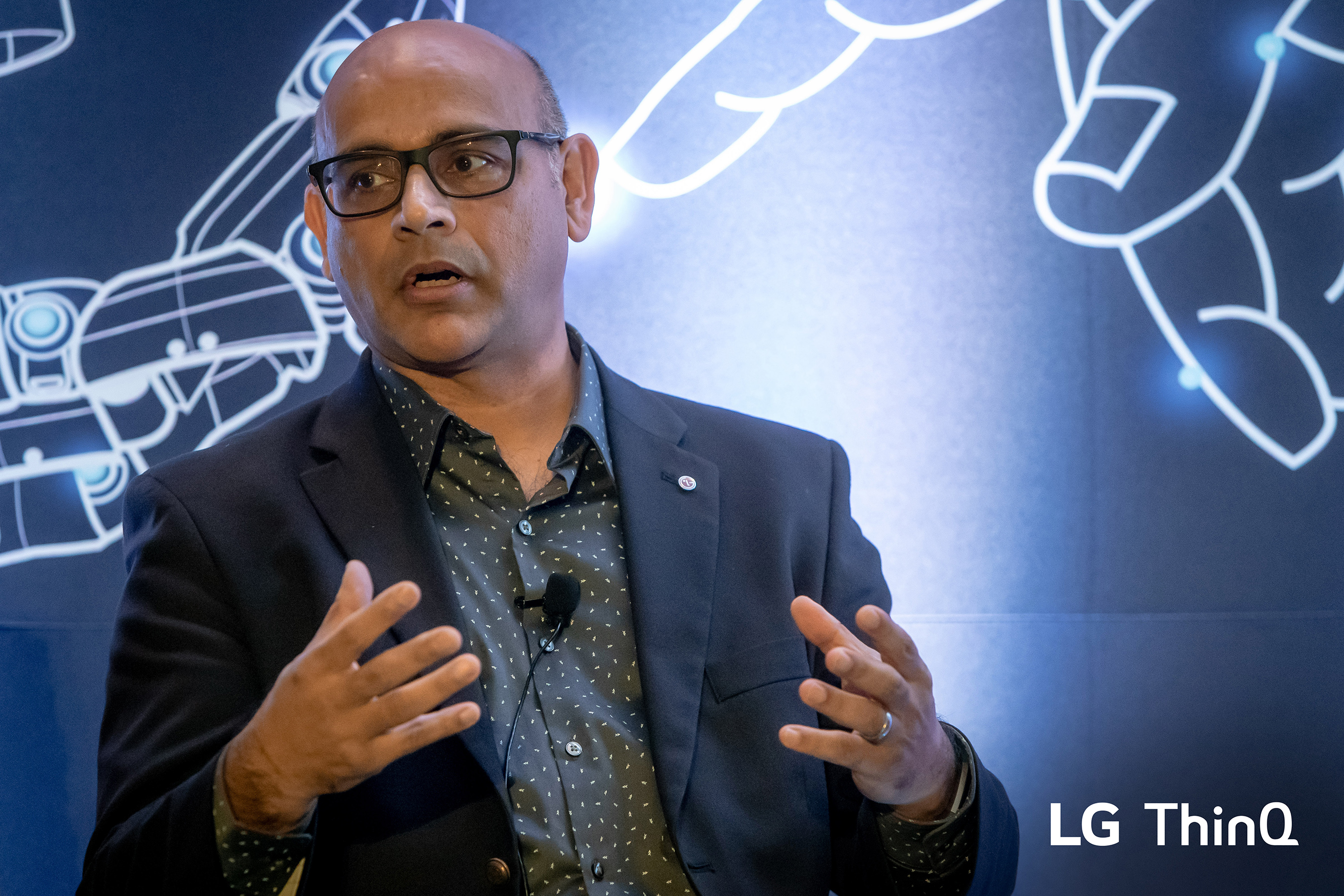 LG ThinQ introduced by Mohammed Ansari, Senior Vice President and General Manager of the LG Silicon Valley Lab