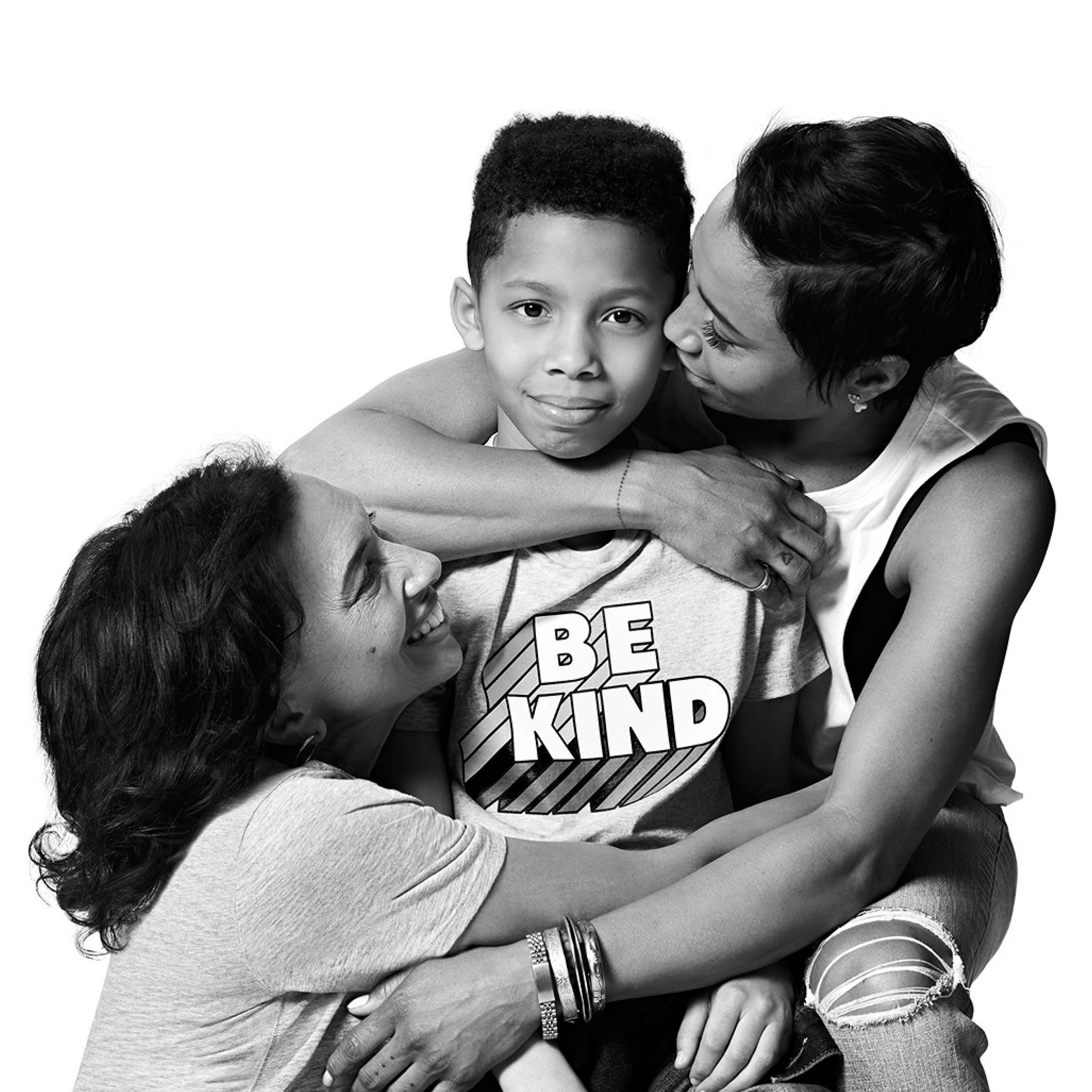 """With a full heart and open mind, we can find love, foster love -- and be love."" - author, social activist, and mother @jodiepatterson with her mother Jamelle and her transgender son Penel"