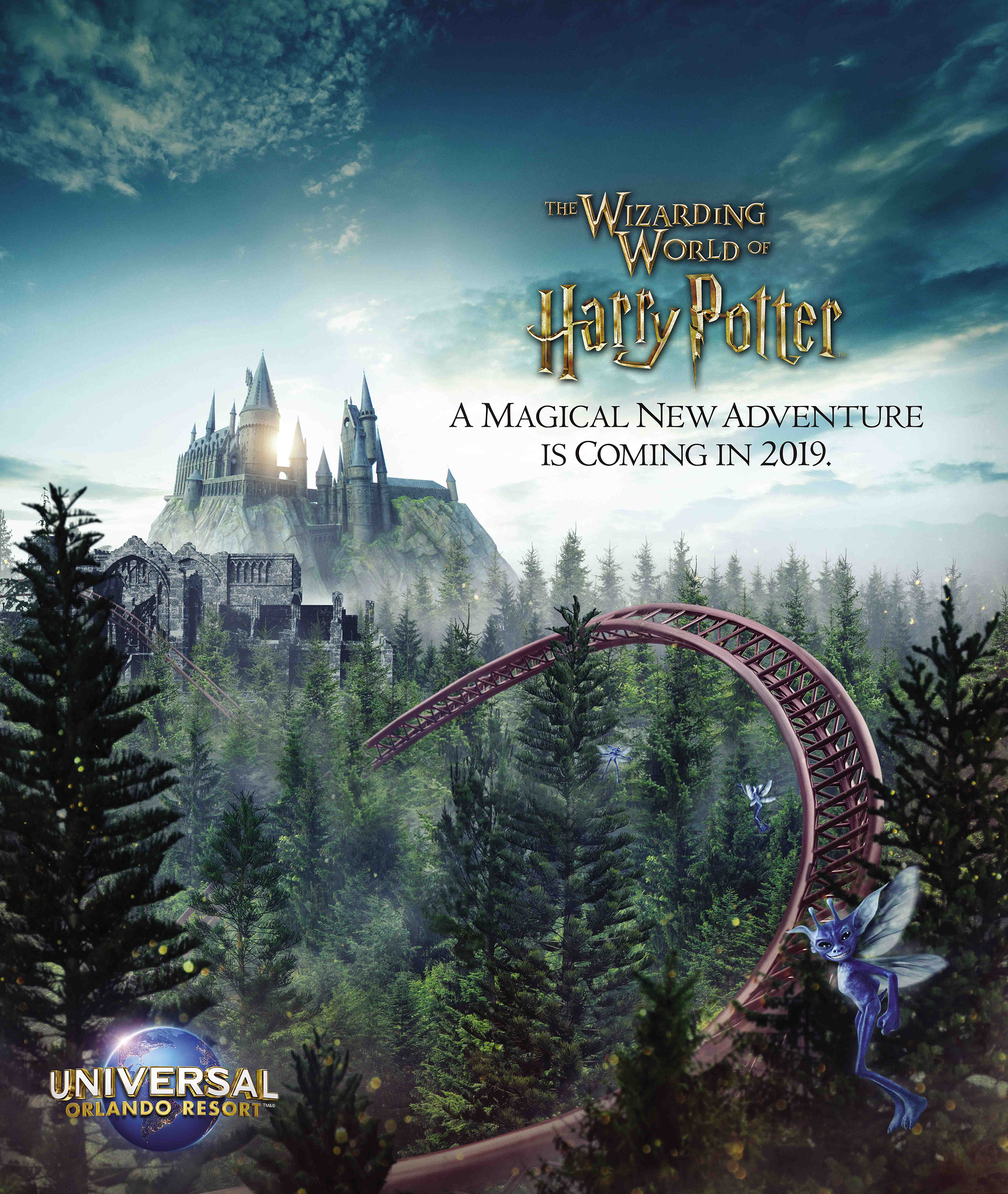 A new coaster, in place of the now-closed Dragon Challenge attraction, promises to immerse guests in an all-new adventure at Universal Orlando's The Wizarding World of Harry Potter in 2019.