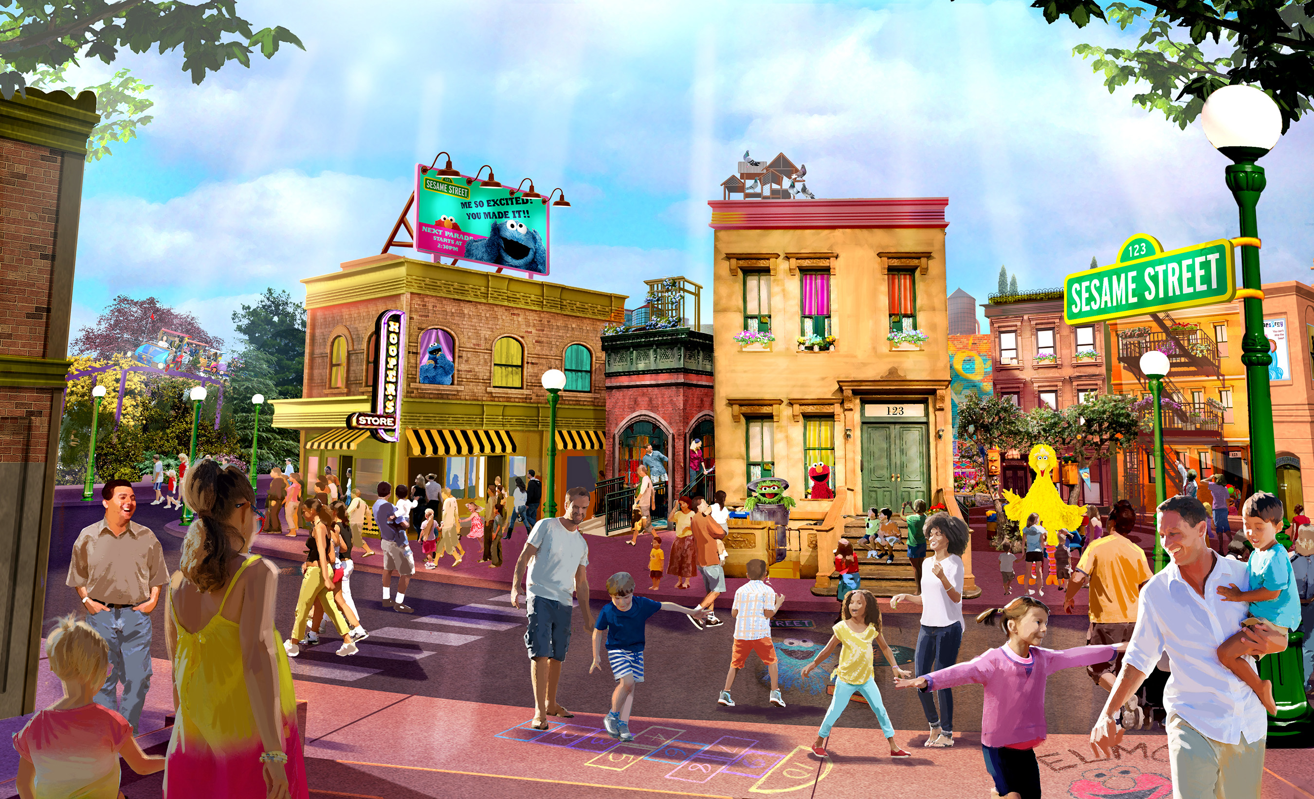A new Sesame Street-themed land at SeaWorld Orlando is scheduled to open in spring 2019, complete with the iconic neighborhood, exciting rides, a parade and more.