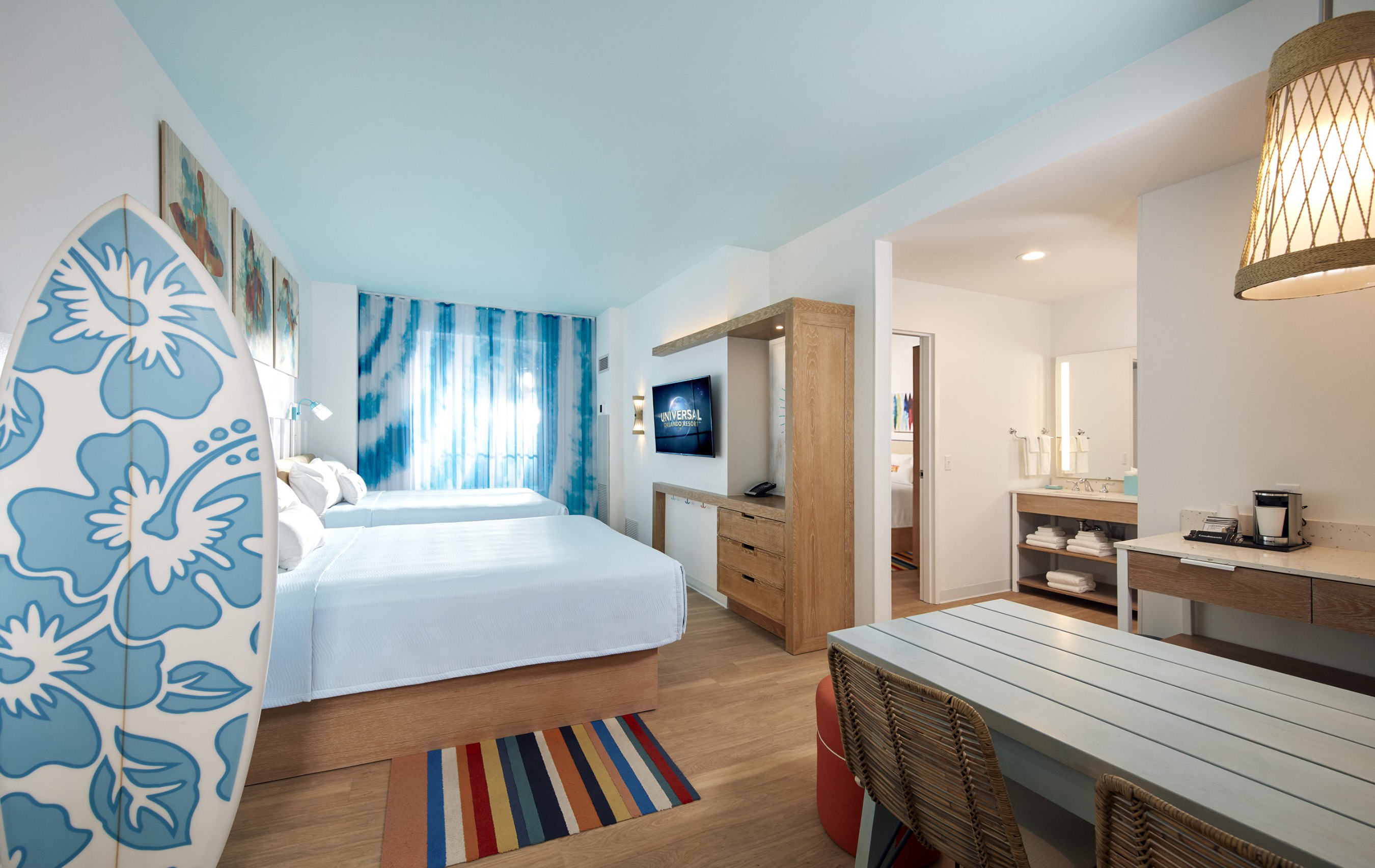 Surfside Inn and Suites at Universal Orlando Resort will open in summer 2019, the first of two new value hotels that will make up Universal's Endless Summer Resort.