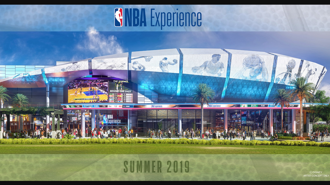 Disney Springs will welcome The NBA Experience, a state-of-the-art restaurant, complete with interactive games, in 2019.