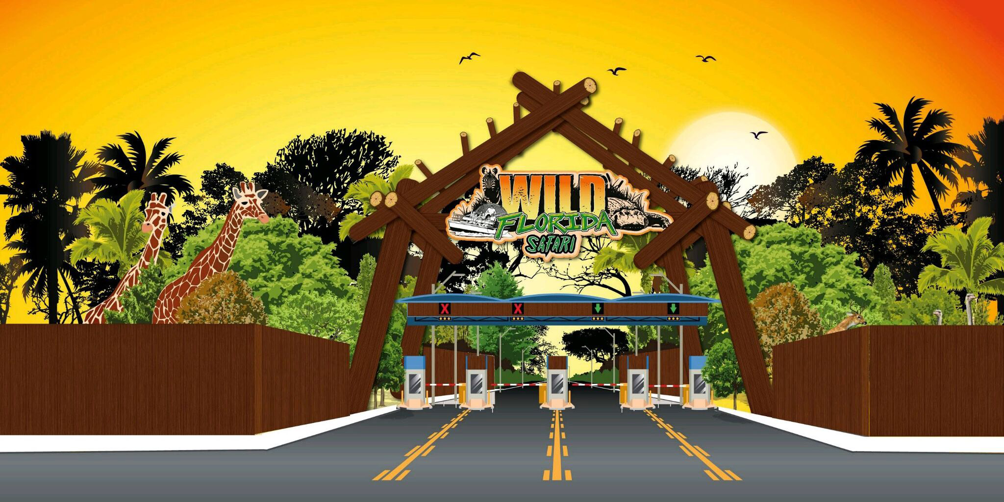 Wild Florida is expanding by more than six times its size to add a zipline and drive-through safari, bringing visitors nose-to-snout with giraffes, wild boars and other exotic animals.