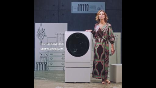 Uberta Zambeletti with LG SIGNATURE Washing Machine