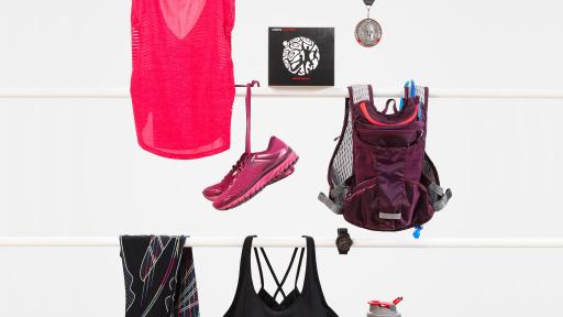Image of sports wear and USANA vitamin product