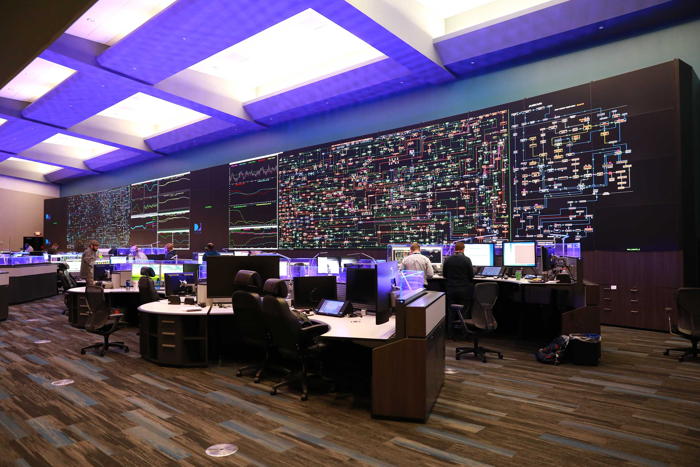 ITC's control room staff monitors transmission systems 24-7 across the company's seven-state footprint.