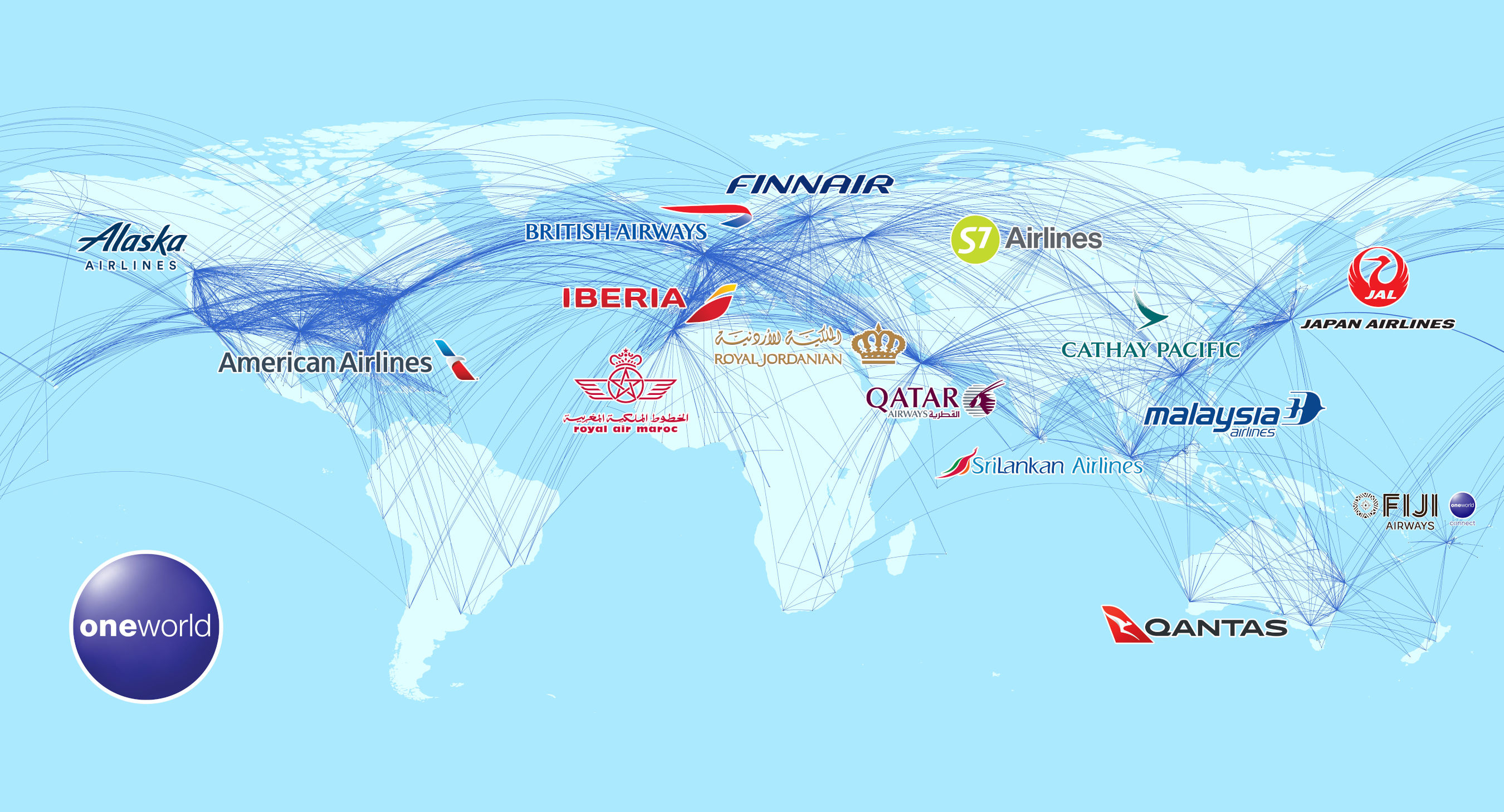 oneworld provides a global network of flights across 14 world-class airlines. With its full membership, Alaska Airlines will add seven new airline partners and enhance its six existing partnerships.