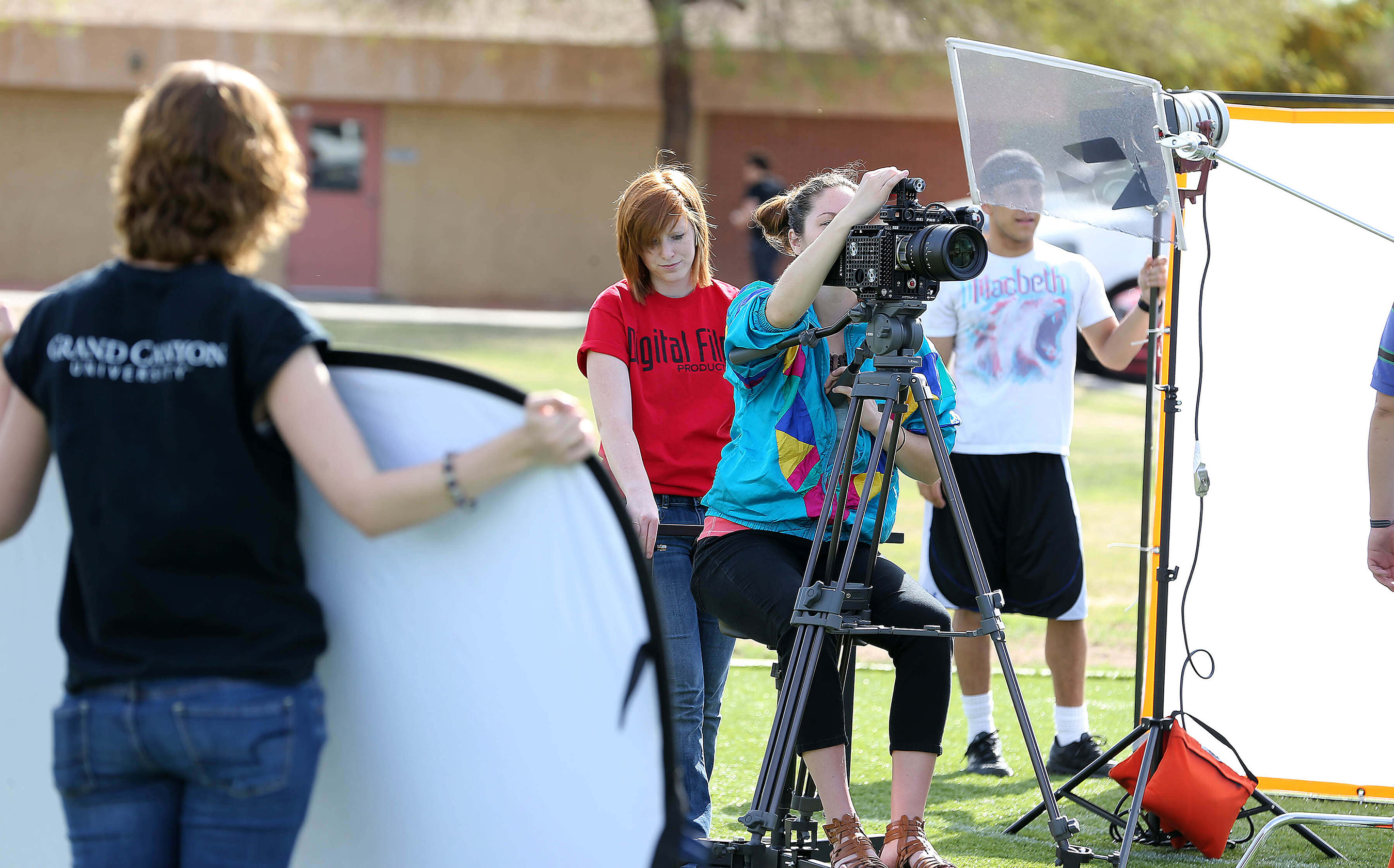 Students in GCU's digital film program can gain hands-on experience while learning the technical aspects of filmmaking.