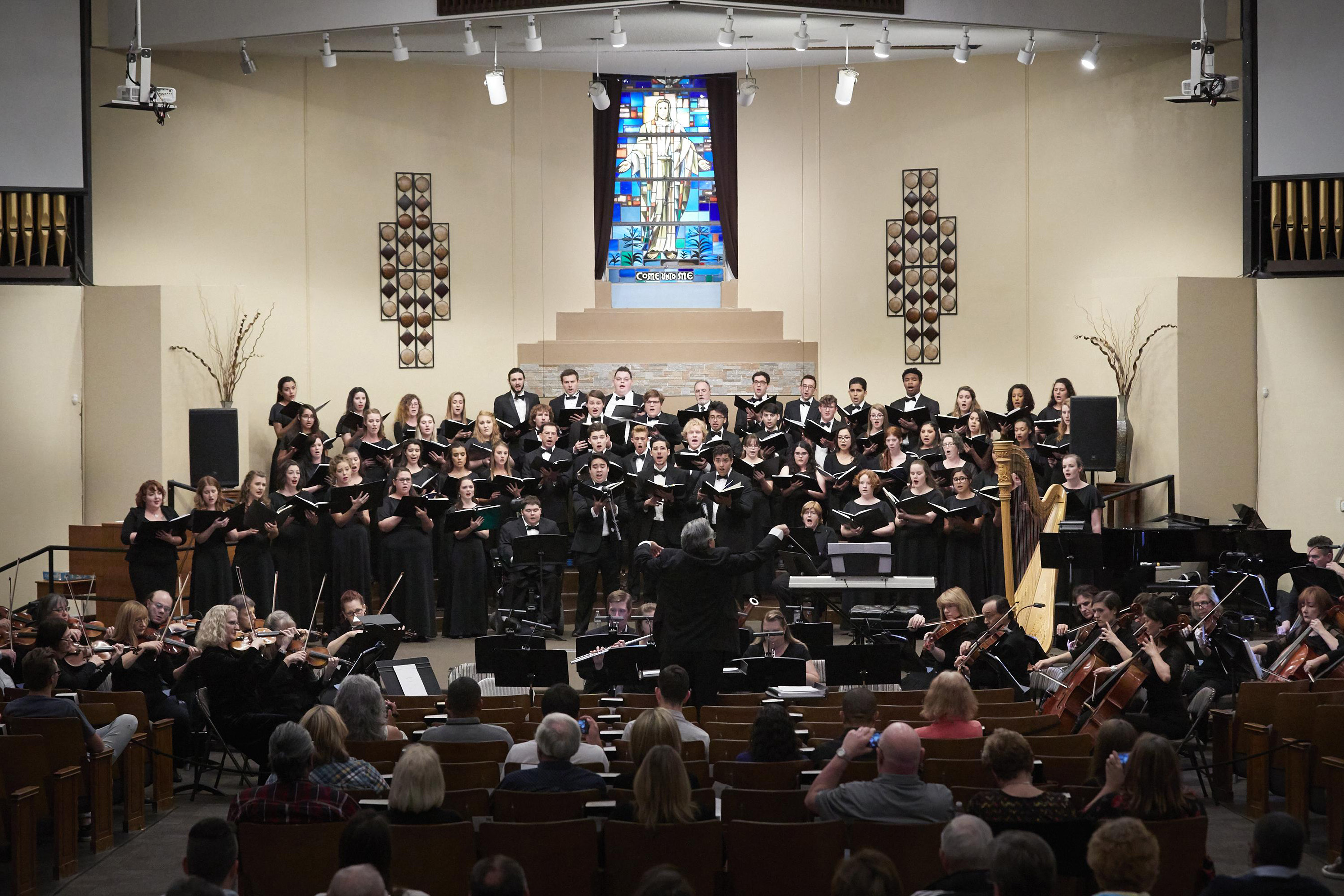 Grand Canyon University's Canyon Choral Society has performed many renowned works, such as the musically imaginative melodies of Lux Aeterna.