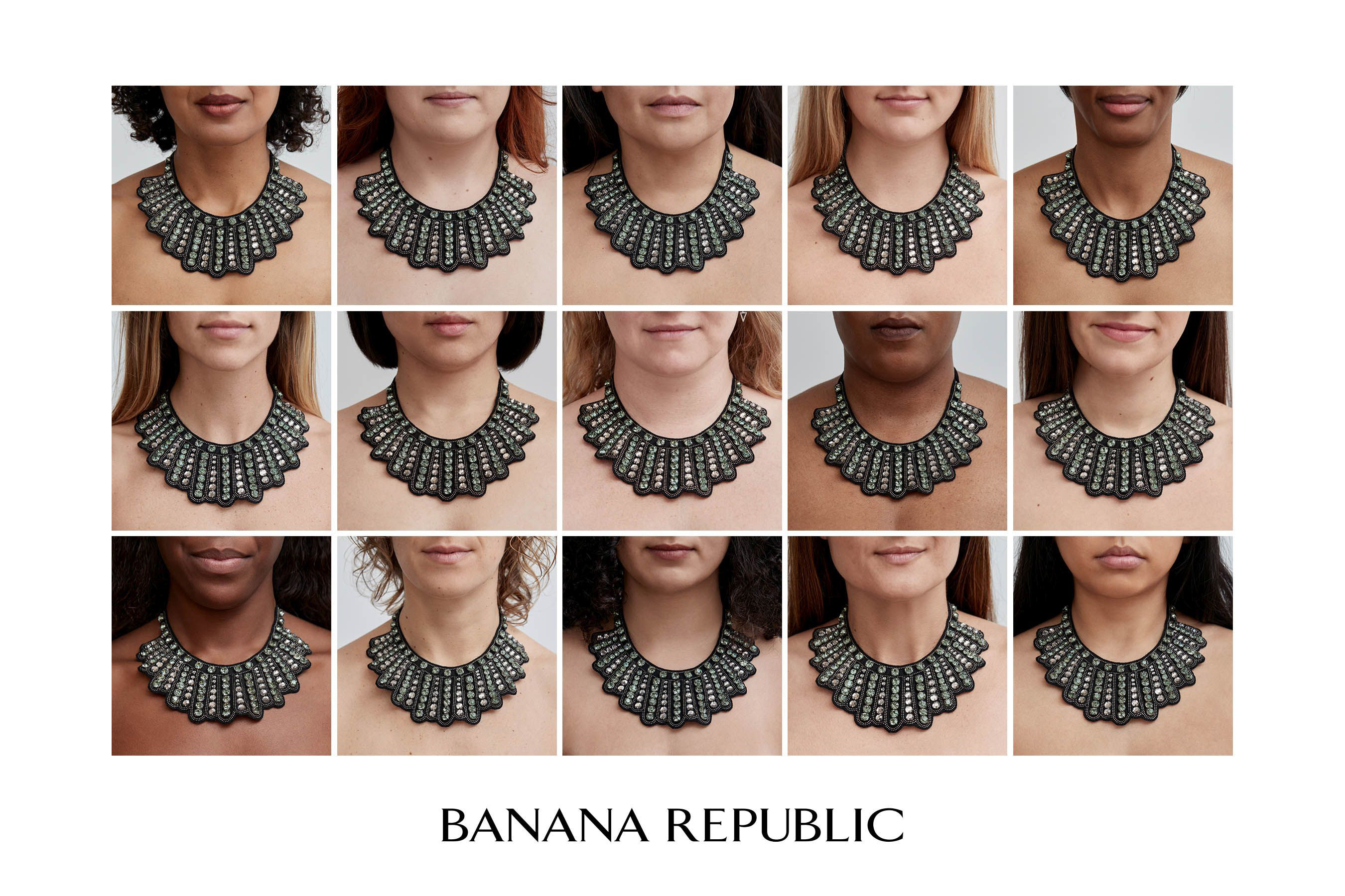 """370bc1b54 Banana Republic is re-issuing the original """"dissent collar"""" to support the  work"""