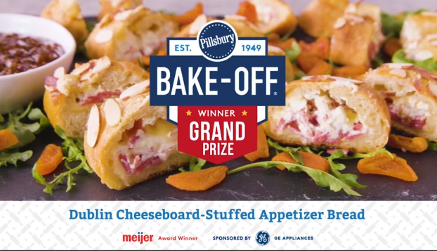 The Dublin Cheeseboard-Stuffed Appetizer Bread recipe features creamy honey goat cheese, white cheddar and flavorful salami baked to perfection inside our Pillsbury™ French bread.