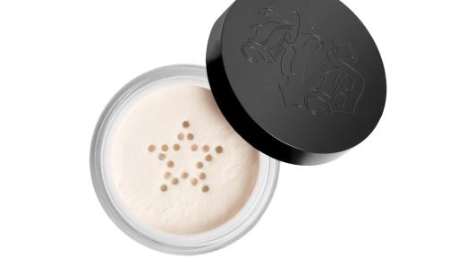 Kat Von D Beauty's ultra-lightweight, non-drying Lock-It Setting Powder in Translucent is featured in the 2019 Sephora Birthday Gift mini-set. Full size shown.