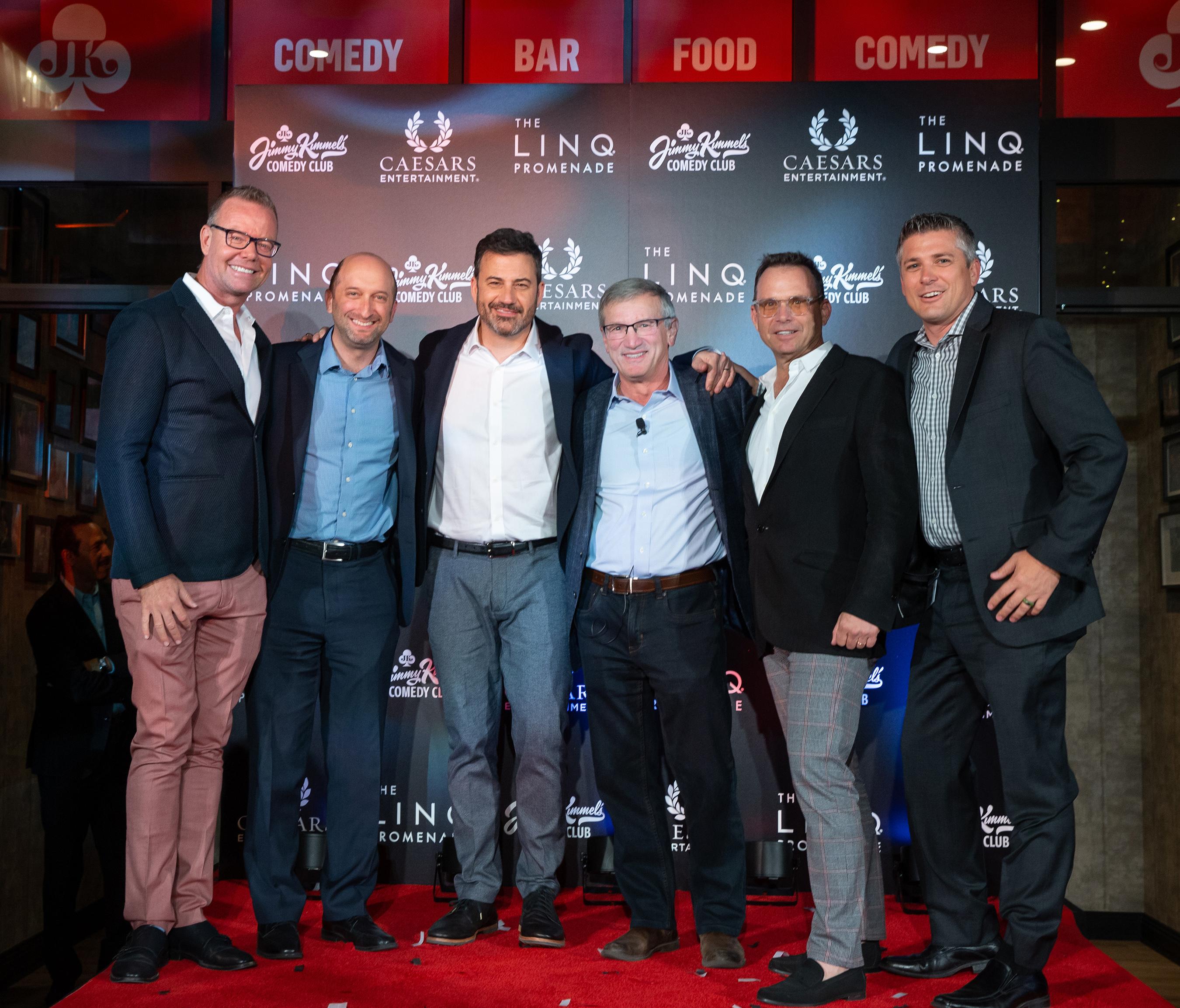 Jimmy Kimmel's Comedy Club Grand Opening - Shaun Swanger, Jason Gastwirth, Jimmy Kimmel, Tony Rodio, Michael Gruber, Damian Costa (Photo Credit: Kabik Photo Group)
