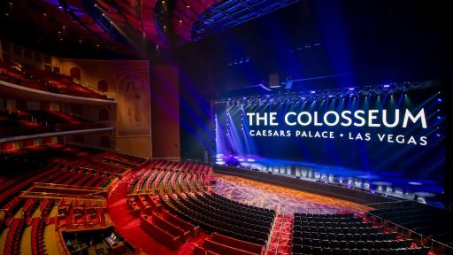 Shot of Caesars Colosseum stage