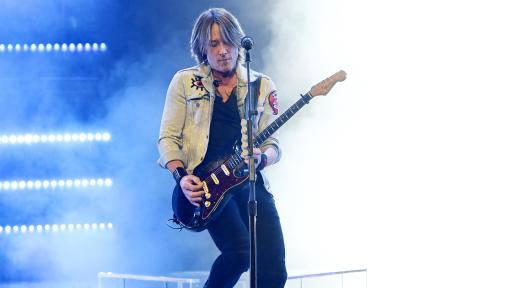 Keith Urban during a live show