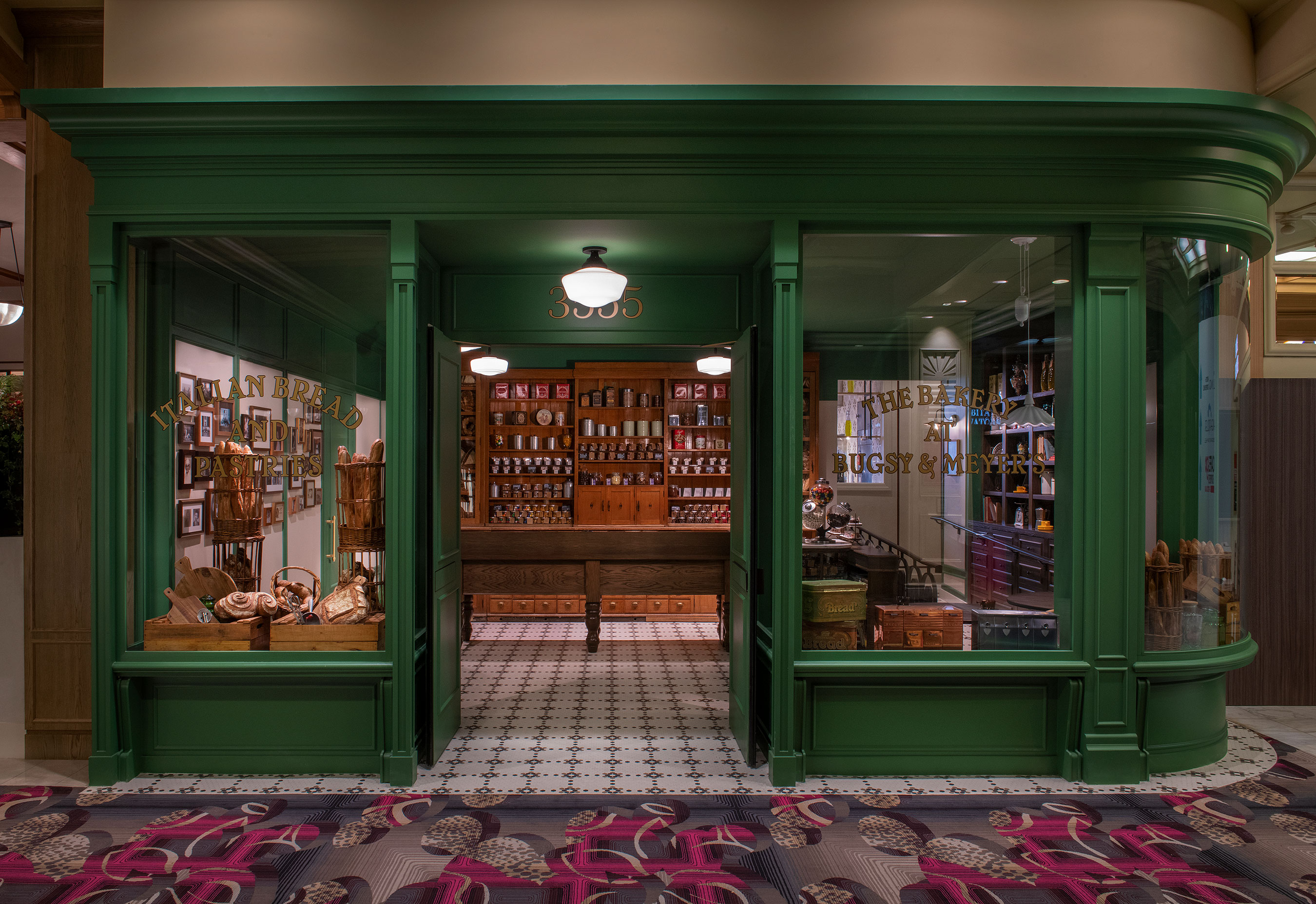 Bakery Entrance of Bugsy & Meyer's Steakhouse at Flamingo Las Vegas