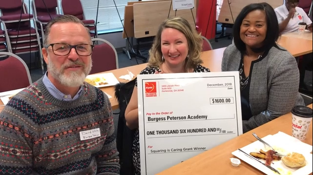 Burgess Peterson Academy in Atlanta will use its $1,600 grant from The Krystal Foundation for a digital music curriculum, so students can learn about music publishing.