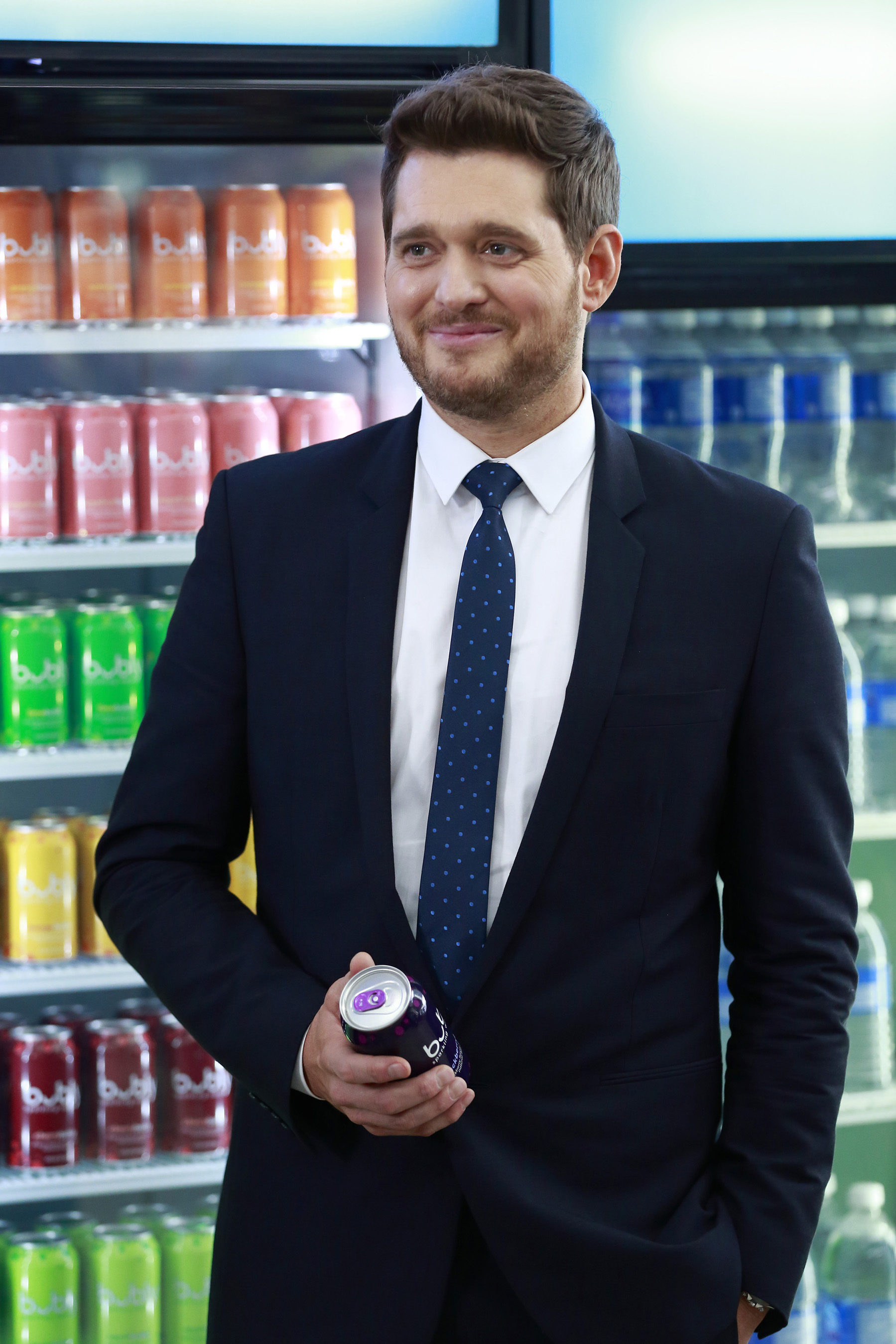 Michael Bublé makes Super Bowl advertisement debut with bubbly