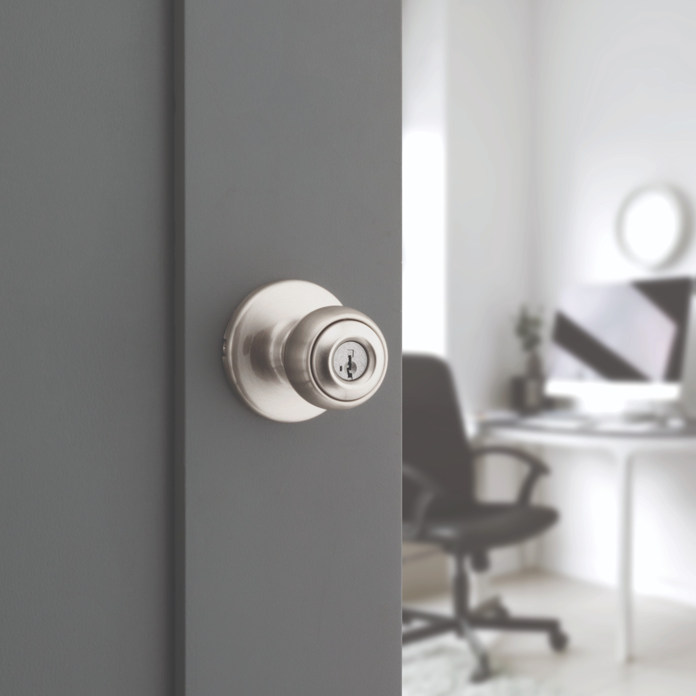 Kwikset Microban® products offer antimicrobial protection while inhibiting the growth of bacteria on frequently touched door hardware in homes.