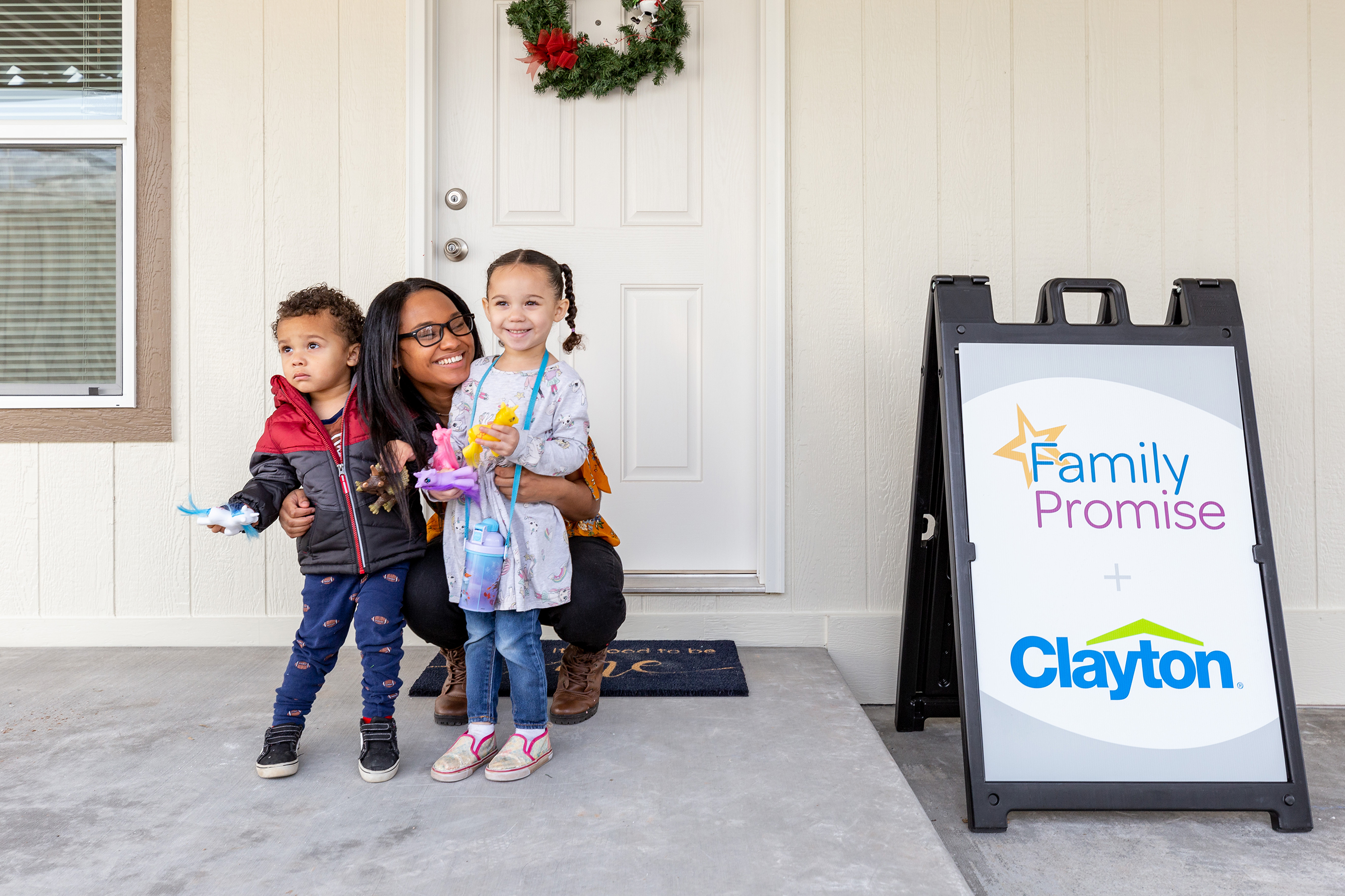 The Clayton and Family Promise relationship is an example of Clayton's commitment to build a better tomorrow. Kameron and her family received one of the 5 home donations this year through the partnership.